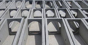 scored or precast sloped end sections